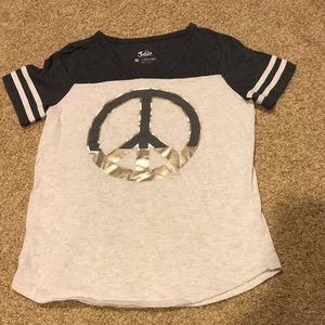 Justice girls short sleeve top size 10